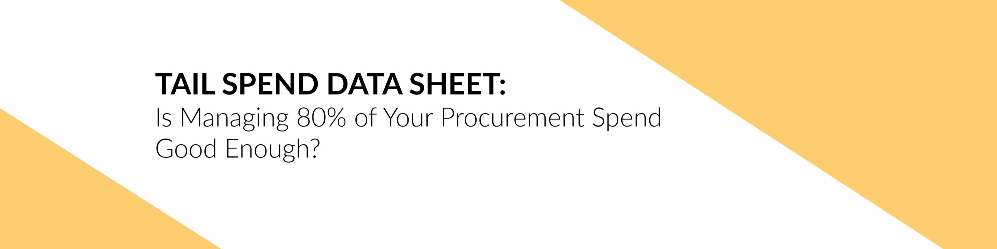 Tail Spend Data Sheet